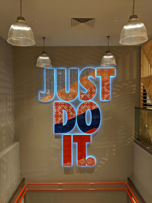 """Murals by Sam Lo seen at Jewel Changi Airport, Singapore - """"Just Do It: Nike X"""""""