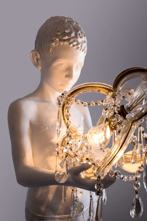 Chandeliers by MARCANTONIO seen at Rossana Orlandi, Milano - Before the Beginning (Child with Chandelier)