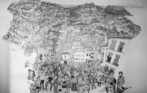 Murals by MarkerStart seen at Restaurante Páprika, Granada - El Albayzin y su Gente
