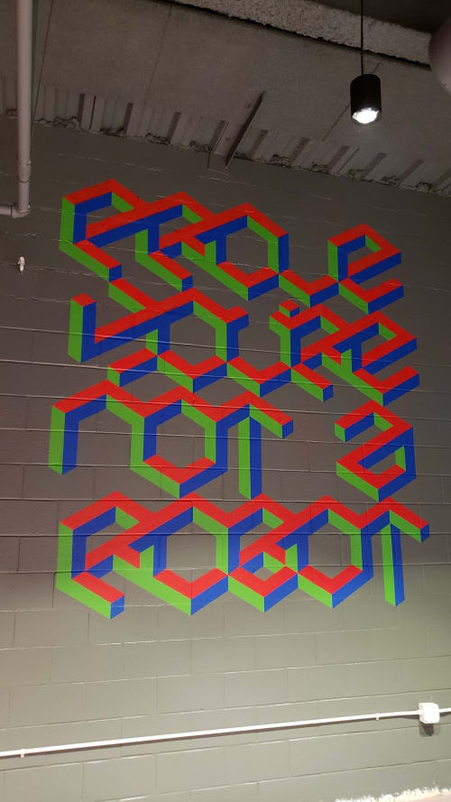 Murals by Graham Edwards Art seen at ArcBest, Fort Smith - ArcBest employee lounge