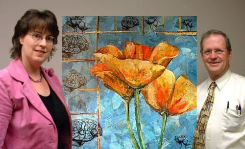 Paintings by Eileen Downes seen at Private Residence, Sacramento - Beauty and the Brain No. 1