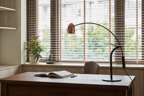 Lamps by SEED Design USA seen at Private Residence, Renton - HERCULES LED Table Lamp