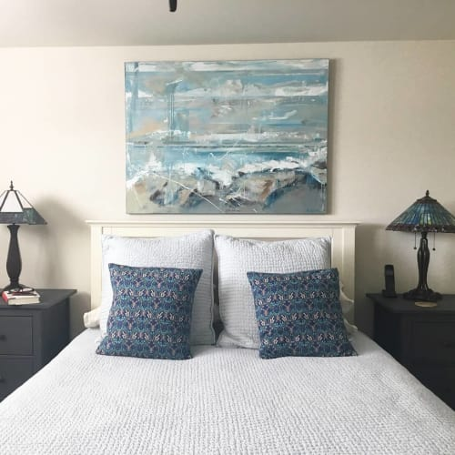 Paintings by Kym De Los Reyes Art at Private Residence, Monterey - Ocean Abstracts