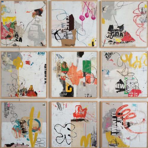 Paintings by Bibby Art seen at Sloan Miyasato Fine Art, San Francisco - Grid