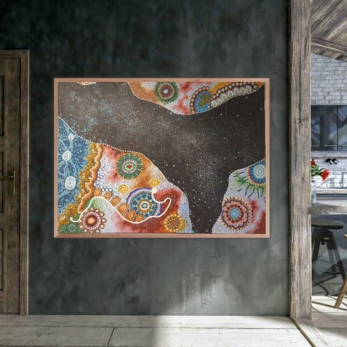 Paintings by Rhiannah M originals seen at Private Residence, MacGregor - About the Journey