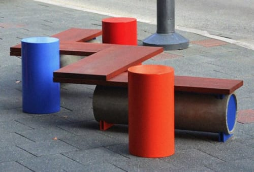 Public Sculptures by reSPOKE Australia seen at Fremantle, Fremantle - Playful Public Seating