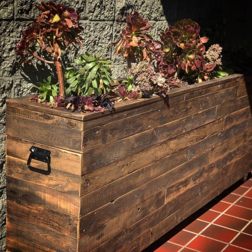 Furniture by Ross Alan Reclaimed Lumber seen at South Hills Church, Burbank - Planter Box