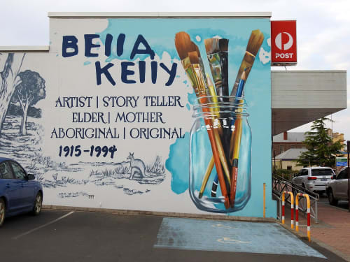 Street Murals by Anat Ronen seen at Mount Barker, Mount Barker - Bella Kelly mural