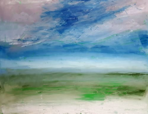 Paintings by Sarah Watson seen at Private Residence, London - Endless Seascape
