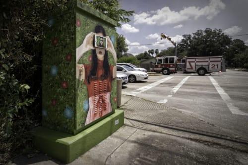 Street Murals by 2:12 seen at Houston, Houston - Selfie