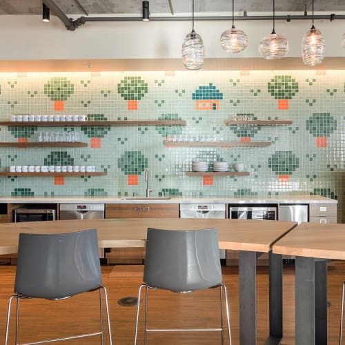 Wall Treatments by Shinji Murakami seen at Salesforce East, San Francisco - Forest