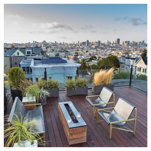 Chairs by Galanter & Jones seen at Private Residence, San Francisco - Evia Lounge & Evia Chairs