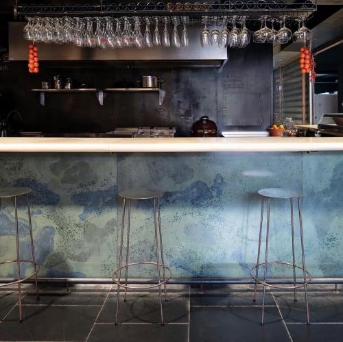 Tiles by Huguet Mallorca seen at La barra de miceli, Inca - Free Standing Terrazzo Bar