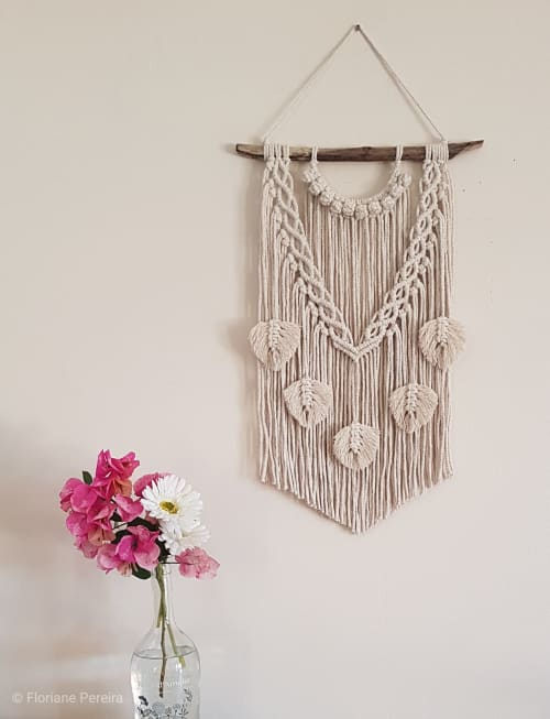 Macrame Wall Hanging by Macrame uniqness seen at Private Residence, Darwin - Boho leaves