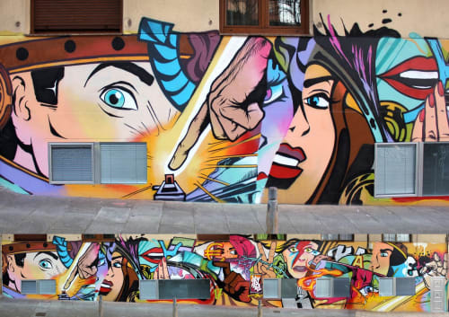 Murals by JAY KAES - Collage