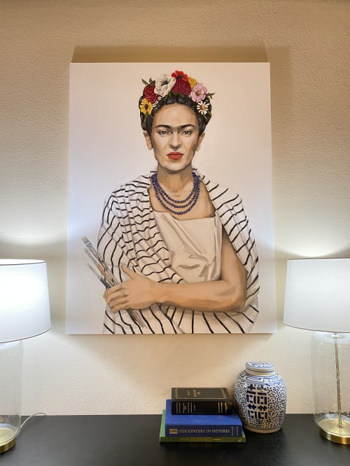 Paintings by LX Artworks seen at Private Residence, Dallas - Frida at Home