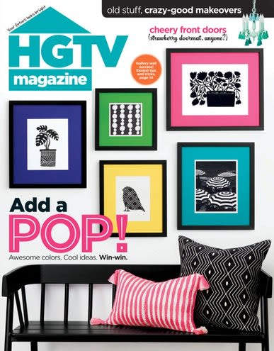 Benches & Ottomans by HKliving USA seen at New York, New York - Cover of HGTV magazine