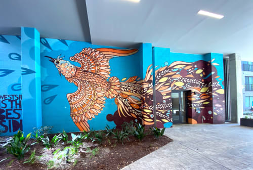 Murals by John Tindel seen at AMLI Westside, Atlanta - Phoenix Mural III