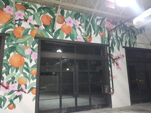 Murals by Vivache Designs at 8443 Haven Ave, Rancho Cucamonga - Peachy Goodness