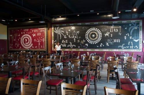 Murals by Louise Dean - Artist seen at Popadom Chatham, Chatham - Restaurant Mural