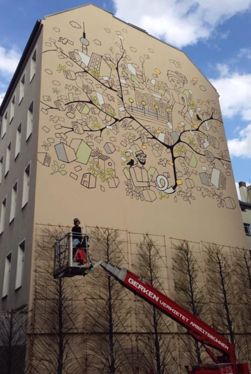 Murals by Emma Rytoft seen at Berlin, Berlin - Send me a Letter