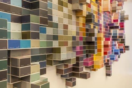 Art & Wall Decor by Jordan H. Taler seen at Grand Central Tech, New York - Flowstone Installation