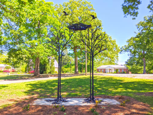 """Public Sculptures by Corrina Sephora seen at Decatur, Decatur - """"Start Where You Are"""""""