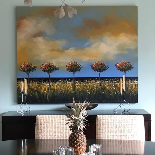 Paintings by Tjasa Owen at Private Residence, San Francisco - Seascape painting