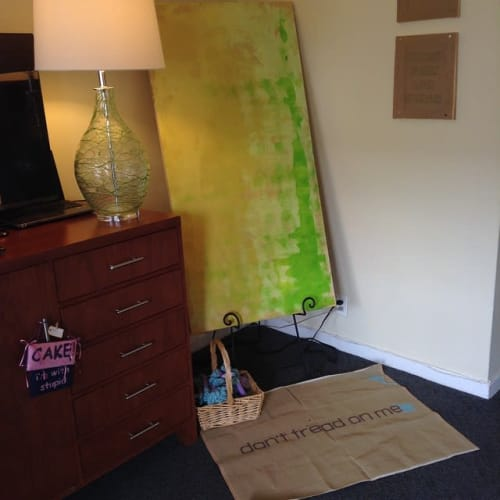 Paintings by Margaret Timbrell seen at Hotel Del Sol, San Francisco - Limeade
