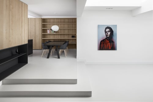 Architecture by i29 interior architects seen at Private Residence, Amsterdam - Living in a garage
