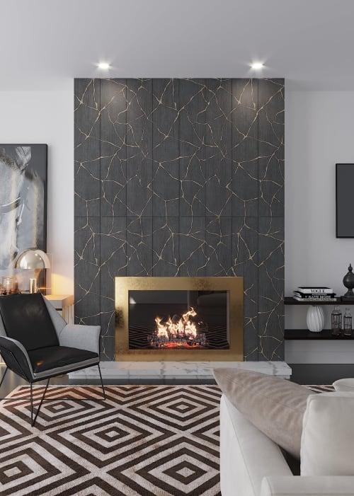 Tile Club Kasai Notte Kintsugi Porcelain Tile | Tiles by Tile Club