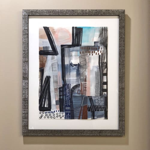 Paintings by Melanie Biehle seen at Private Residence, Bellevue - Architectural No. 2