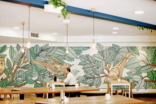 Murals by All City Walls seen at 348 Edward St, Brisbane City - Ed Cafe Mural