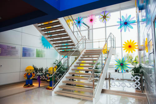 Sculptures by Creative Machines seen at Alexian Brothers Women & Children's Hospital, Hoffman Estates - Bloom