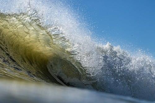Art Curation by Ed Obermeyer/Fine Art Painter/Surf Photographer seen at Virginia Beach, VA, Virginia Beach - Exploding Right, Pendleton, Hurricane Humberto © 2019
