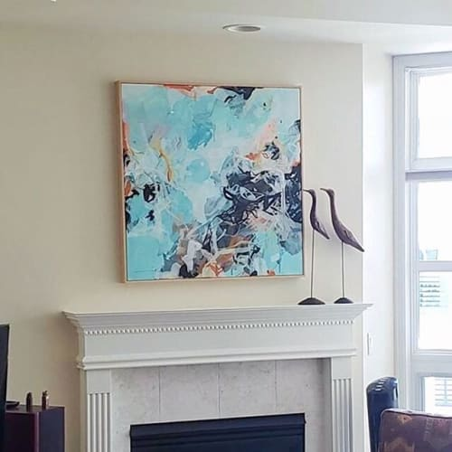 Paintings by Nino Yuniardi seen at Private Residence, Kirkland - Hope for blue skies