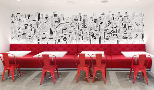 Murals by Brian Rea at Creative Artists Agency, New York - Creative Artists Agency