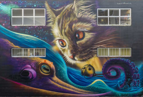 Street Murals by SWiFTMANTiS seen at Taupo, Taupo - OCTO-PUSS