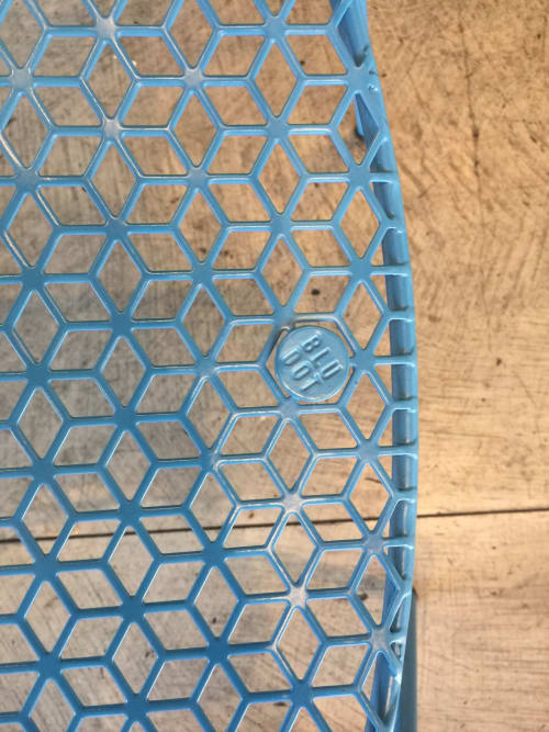 Chairs by Blu Dot seen at Stockhome Restaurant, Petaluma - Blue Chair