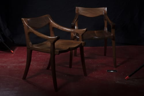 Chairs by Fletcher House Furniture seen at Fletcher House Furniture, Westford - Sam Maloof-Inspired Chair