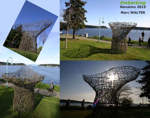 Public Sculptures by Marc WALTER seen at Maffeo Sutton Park, Nanaimo - Embarking