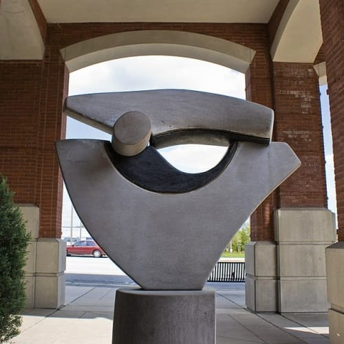 Public Sculptures by Shawn Morin seen at Greensboro Public Library - Central Library, Greensboro - The Eye of David