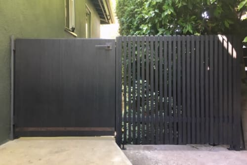 Furniture by Hagerman Works seen at Private Residence, Brentwood - Custom Gates/Fences