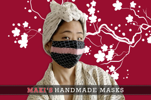 Apparel & Accessories by MAKI YAMAMOTO TEXTILE STUDIO seen at New York, New York - HAND MADE MASKS