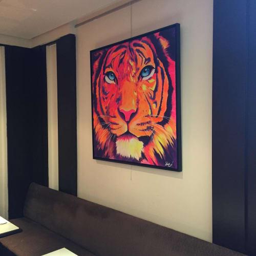 Paintings by Dave Baranes seen at Hôtel Pullman Paris Montparnasse - Ouverture Printemps 2020, Paris - Zohart