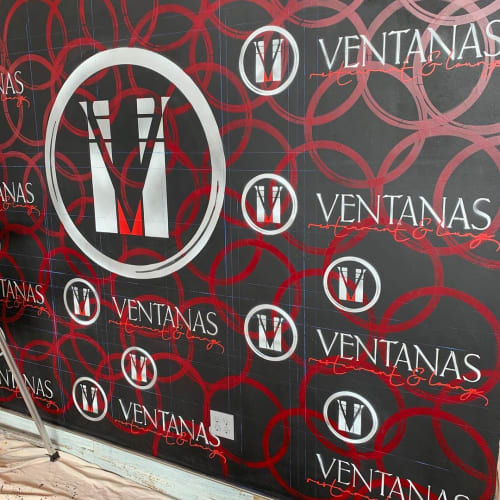 Murals by Jay Mack seen at Ventanas, Fort Lee - Backdrop