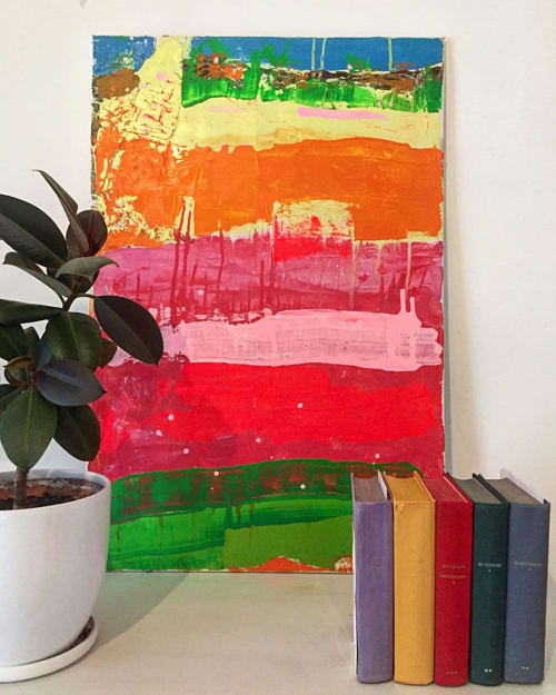 Paintings by Lena Yellow seen at Private Residence, Saint Petersburg - Rainbow
