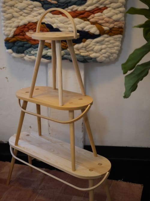Chairs by Yvonne Mouser seen at Wescover Gallery at West Coast Craft SF 2019, San Francisco - Single / Bucket Stool