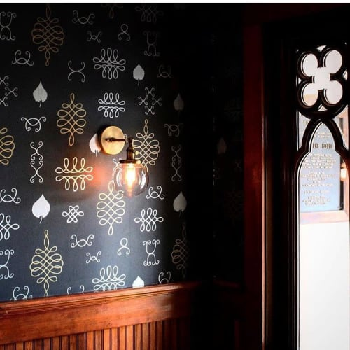 Wallpaper by Juju Papers seen at Shelburne Hotel, Seaview - After Chinterwink
