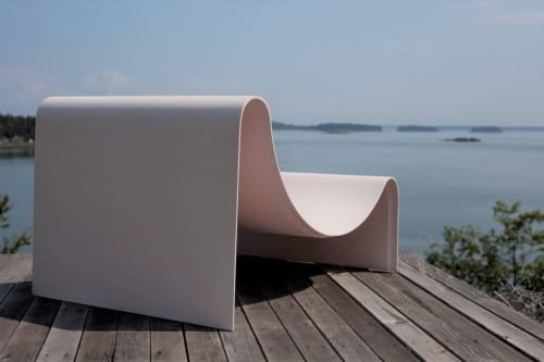 Benches & Ottomans by Asa Pingree seen at Private Residence, North Haven - Knockabout Lounge Chair